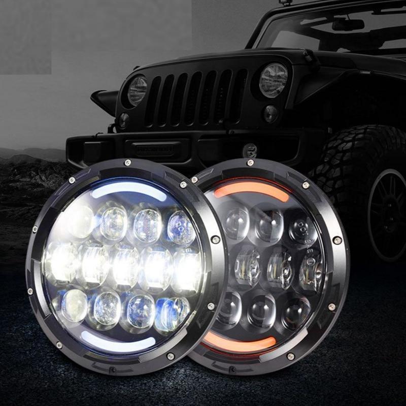TNOOG 105W 7 inch Car styling Led Headlight For UAZ Hunter  Hi/Lo Beam led Auto Headlight with DOT E9 sign for Jeep Wrangler машинки autotime машина uaz hunter спецназ