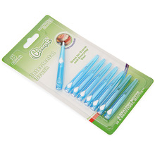 New 8pcs Oral Care Interdental Brush Orthodontic Wire Toothbrush Imported Caliber 0.7mm Push-pull Brush Blue Color1