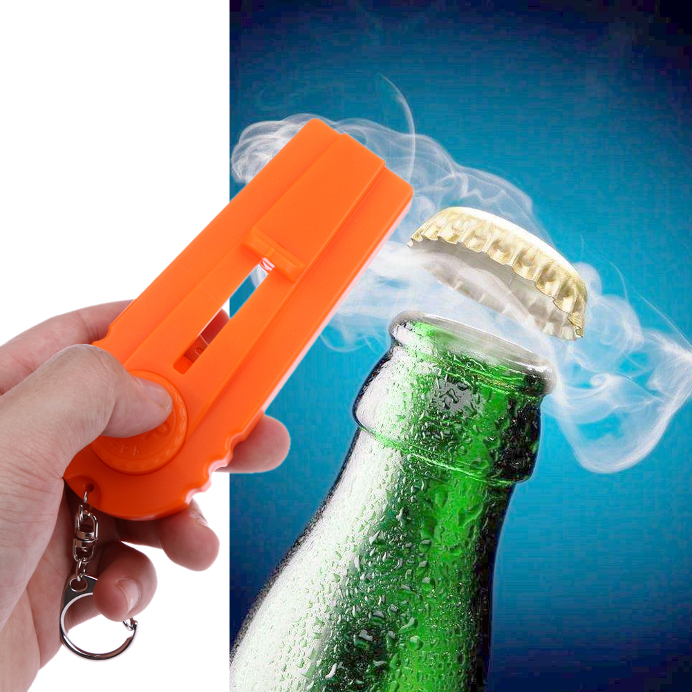 product 1Pc Hot Sale Flying Cap Zappa Bottle Beer Opener Beer Bottle Openers Cap Launcher Fire Hat Key Ring Corkscrews
