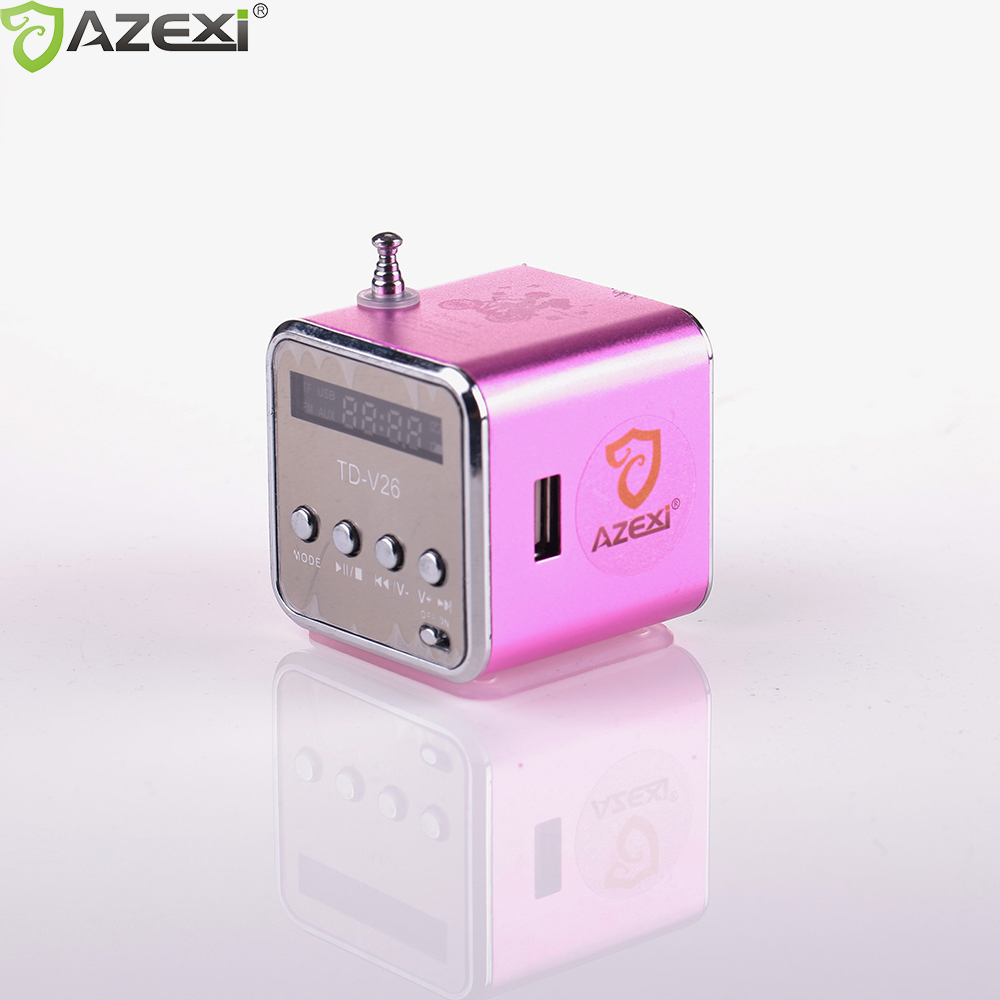 TD-V26 digitale radio Mini Lautsprecher tragbares Radio FM Empfänger akku unterstützung SD/TF karte musik spielen