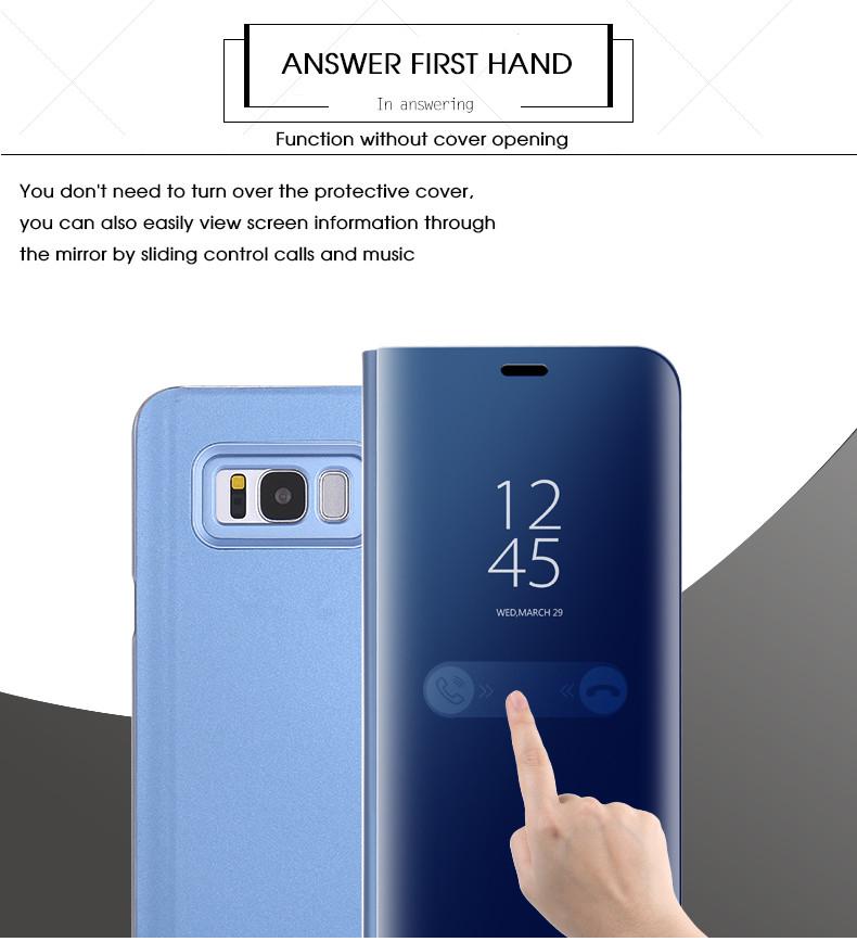 For VIVO V11 PRO Phone Case Mirror Flip Cases Clear View Back Cover for  VIVO V9 Y85 A71 NEX Y66 Y67 Y65 Y81 Y83 V11 V11i Y97