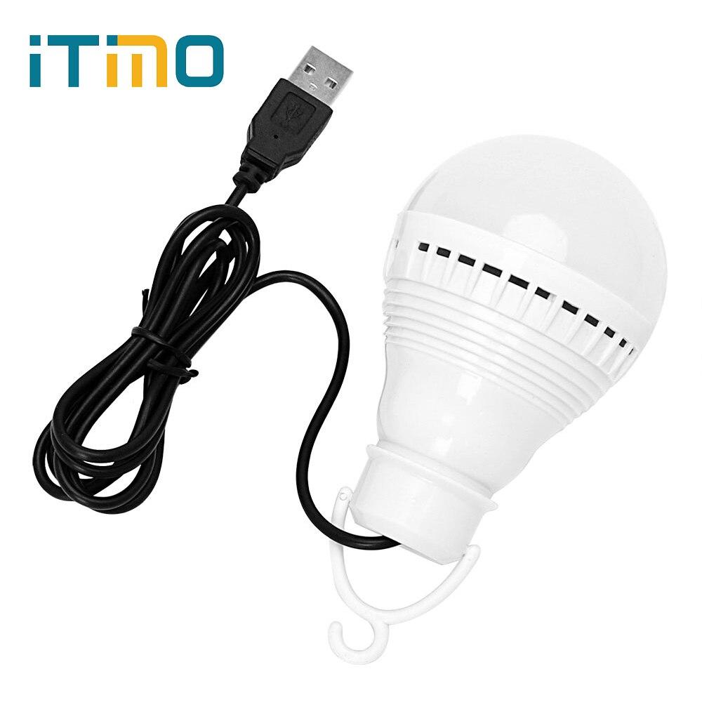 ITimo 3W Camping Lamp White DC 5V Outdoor Lighting LED Bulb USB Energy Saving Emergency Light Portable