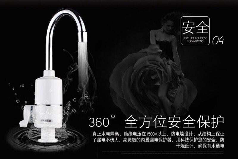 Cuisine instantanée chauffe-eau sans réservoir électrique robinet d'eau chauffe-eau instantané chaud et froid double usage 2000 w 3000 w - 5