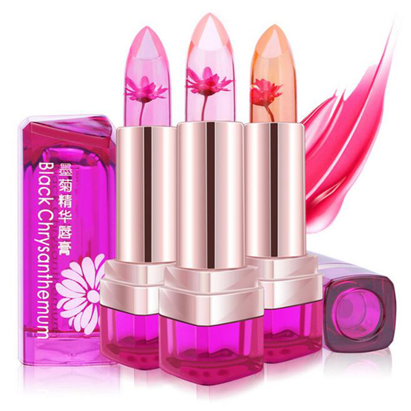 Jelly Flower Lipstick Lip Gloss Transparent Moisturizer Makeup - Makeup - Photo 2