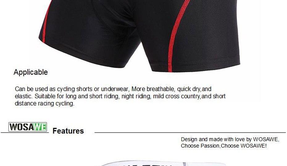 64159a967b907 ⑤WOSAWE الدراجات قصيرة الرجال النساء جبل الطريق دراجة MTB السراويل ...