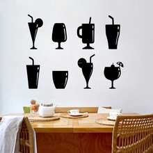 Modern Bar cup Home Decoration Accessories Waterproof Wall Decals Party Decor Wallpaper
