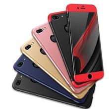 Олаф 3 в 1 жесткий пластик PC 360 градусов Экран Защитная крышка для iPhone 5 5S SE 5C 7 6 6 S Plus Роскошный Глянцевый Капа