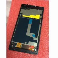 LTPro 100 Tested Working LCD Display Touch Screen Digitizer Assembly Frame For Sony Xperia Z1 L39H