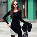 Autumn New Fashion Dress Women Long Sleeve Bandage Bodycon Patchwork Female Office Casual Party Asymmetric Dress Vestidos CL1678