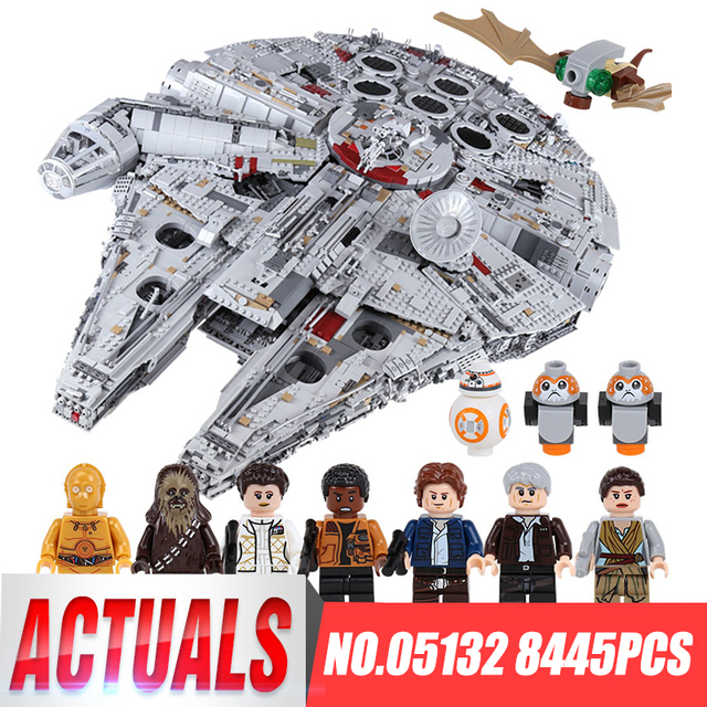 Lepin 05132 star destroyer star wars millennium falcon compatível com LegoINGlys 75192 starwars tijolos blocos de construção do modelo