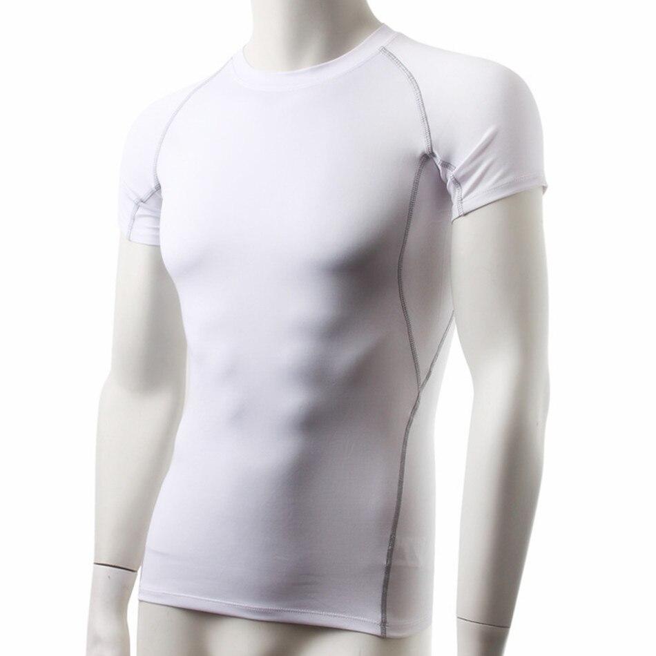 2018 Sport Jerseys Compression T-shirt Gym Basketball Tights Sportswear Tank Top Men Running Gym White Yoga Shirt