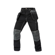 Men working pants multi pockets wear-resistance work trousers high quality worker mechanic factory functional cargo