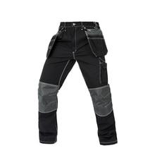 Men working pants multi pockets wear-resistance work trousers high quality worker mechanic factory functional cargo work pants цена и фото