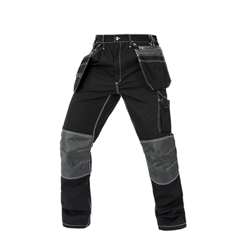 Men working pants multi pockets wear-resistance work trousers high quality worker mechanic factory functional cargo work pants