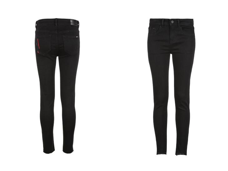 ONLY Women's autumn new low waist slim cropped jeans| 118349591 20