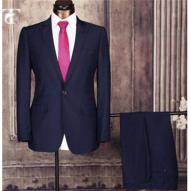 Offres spéciales derniers hommes costume Design Slim Fit avec manches longues affaires hommes costumes de mariage de haute qualité personnalisé hommes costume