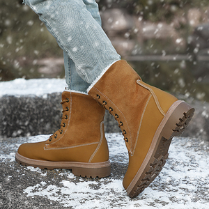 Image 5 - VESONAL 2019 Winter Suede Leather Warm Snow Shoes Women Boots mid calf Plush Fur Velvet Boots Female Booties Woman Footwear