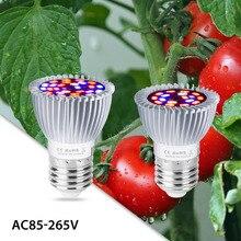 Led растения лампы 220V E14 аквариум расти Led светильник 18W 28W E27 СИД крытый парниковый лампа для выращивания УФ/ИК Phytolamp полный спектр