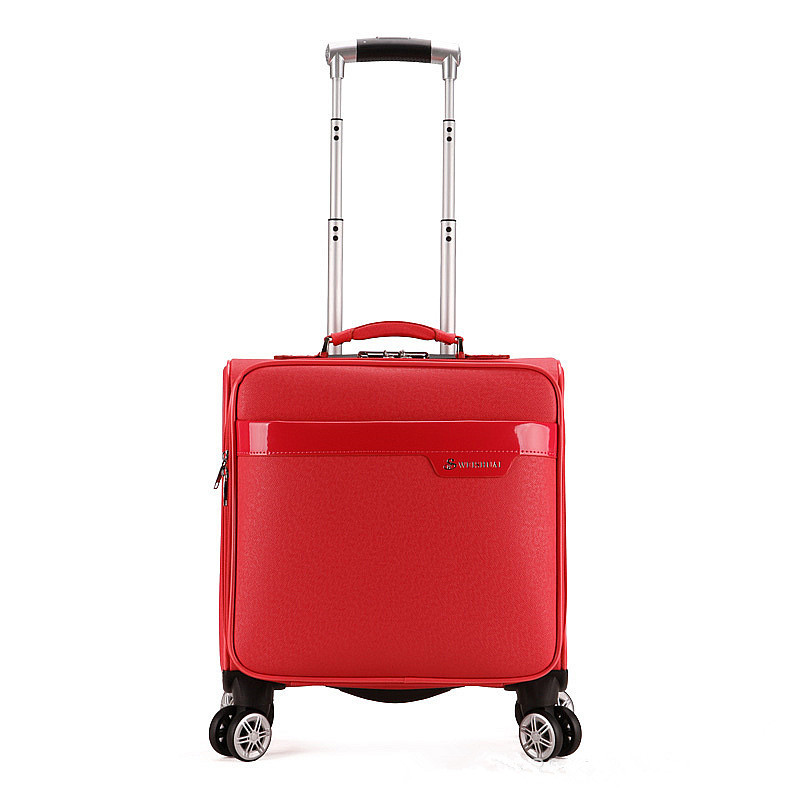 Trolley valise tige femelle embarquement bagages affaires valise 16 pouces valise sur roues voyage valise femmes roulant bagages