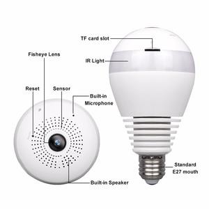 Image 5 - 360 Degree Wireless WIFI IP Light Camera 1080P Bulb Lamp Panoramic FishEye Smart Home Monitor Alarm CCTV WiFi Security Camera
