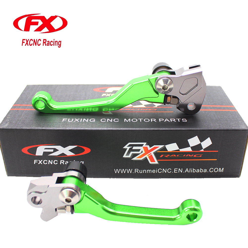 FXCNC Pivot Motocross Dirt Pit Bike Brake Clutch Levers For Kawasaki KX 65 85 125 250 250F KX65 KX85 KX125 KX250 2000 2001 2002 cnc pivot brake clutch lever for kawasaki kx65 kx85 kx125 kx250 kx250f new
