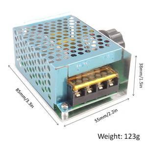 Image 4 - אחת שלב Knob מתאם AC220V 4000 W ברציפות משתנה שנאי עבור מנוע מהירות רגולטור LED בהירות בקרה