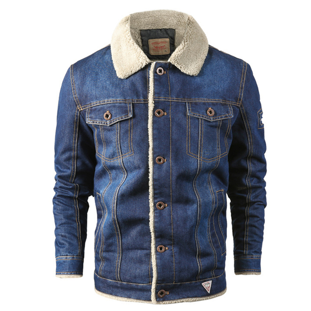 MAGCOMSEN Mens Jackets Winter Warm Demin Jacket Thicken Vintage Jeans Coat for Men Outwear Clothing Plus Size 6XL AG-MG-01 2