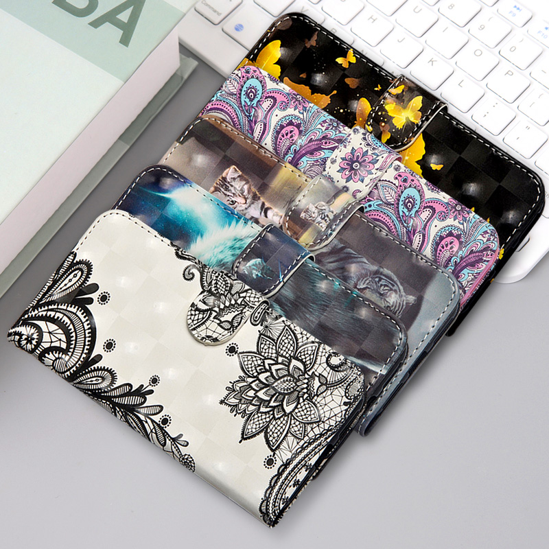 Luxury Painting <font><b>Flip</b></font> Stand Leather mobile <font><b>Case</b></font> <font><b>For</b></font> <font><b>Huawei</b></font> <font><b>Y5</b></font> Y6 Y7 2019 Wallet Phone Bag Cover <font><b>For</b></font> <font><b>Huawei</b></font> Y3 <font><b>2018</b></font> 3i 4 image