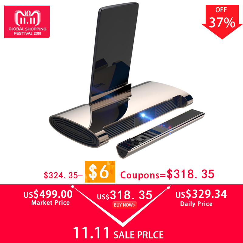 JMGO M6 Mini Projector Led Proyector Android 7.0 Support 4k Video Projetor with WIFI, Bluetooth, HDMI, USB, Laser Pen Beamer lowest price portable mini led projector hdmi usb pc beamer projector 320x240 video projecteur for children gift game projetor
