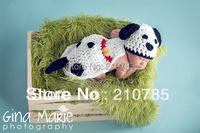 free shipping,Lovely Baby Infant Puppy Dog Knitted Costume Photo Photography Prop Newborn hat
