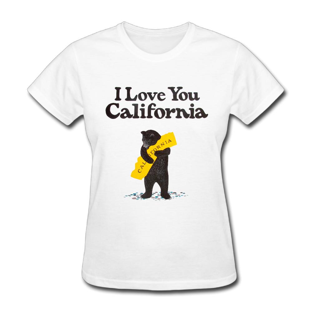 me encanta callifornia oso california mapa poltico de las mujeres de manga corta t shirts impreso