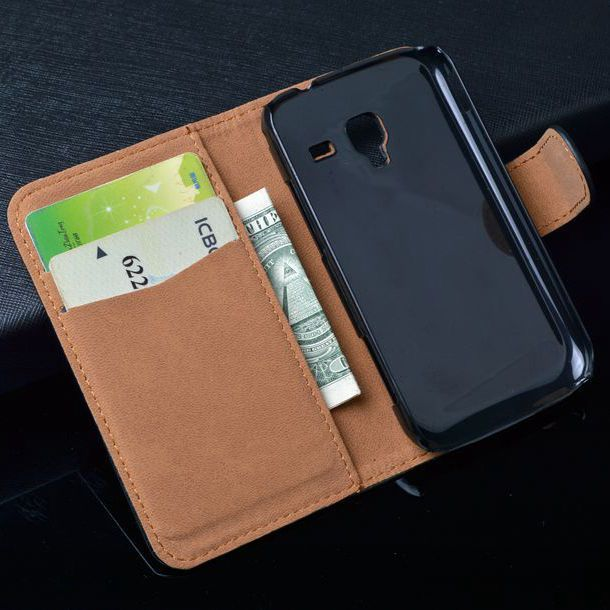 For Samsung Galaxy Ace 2 i8160 8160 Gt-i8160 Cover Wallet Cover with Bank Card Holder 4 Colors in Stock