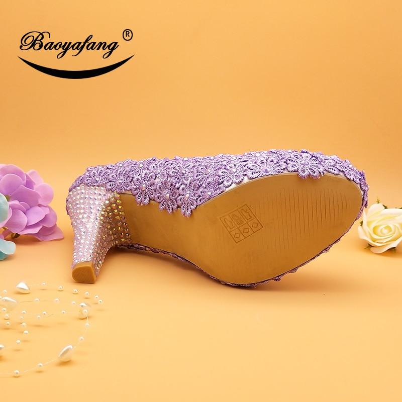 comprar baoyafang nueva llegada 10 cm flor violeta de la boda