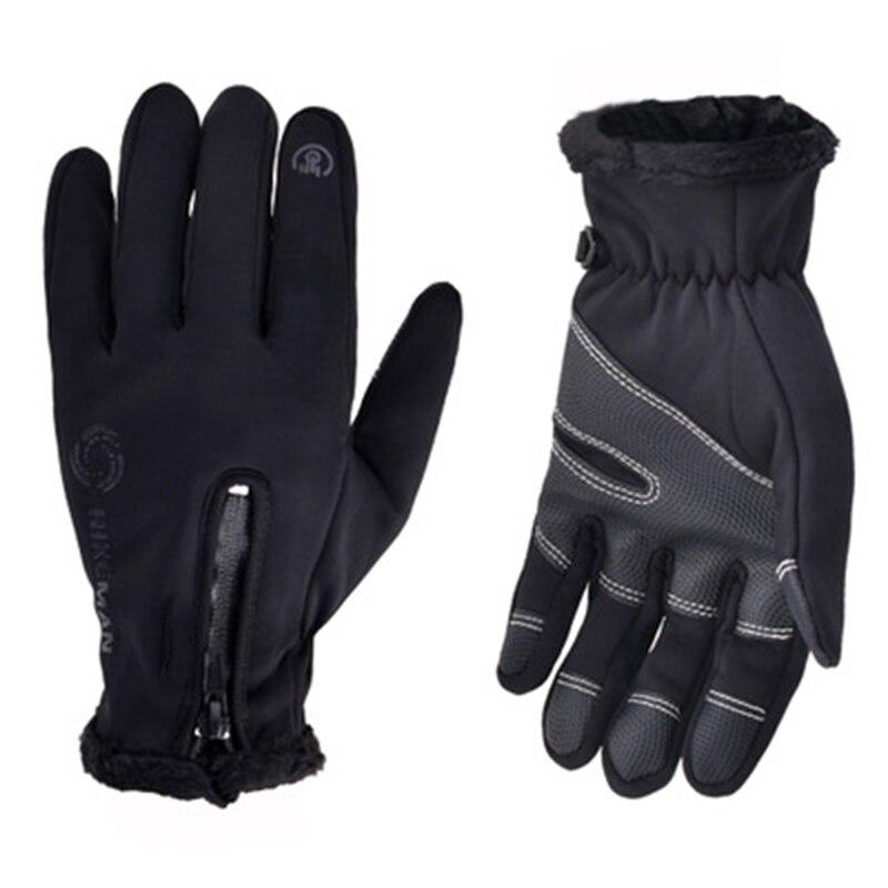 2019 Winter Radfahren Fahrrad Handschuhe Winddicht Thermische Warme Fleece Handschuhe Männer Frauen Motorrad Schnee Skifahren Sport Bike Handschuh