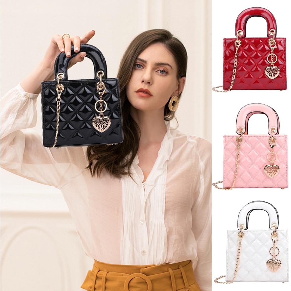 Летние сумки для женщин, клетчатая желеобразная сумка конфетного цвета, мини дизайнерская женская сумка через плечо с цепочкой, сумка через...