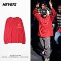 Heybig Одежда Новое Прибытие Добычу Мужчины одежда Kanye West Я Чувствую, Как Пабло Сезон 3 Хип-Хоп Теэ Китайский Размер S-3XL