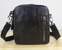 แฟชั่นใหม่100%หนังแท้ของmessengerกระเป๋าผู้ชายกระเป๋าสะพายหนังข้ามร่างกายกระเป๋าสันทนาการขนาดเล็กถุงสบายๆสีดำM152