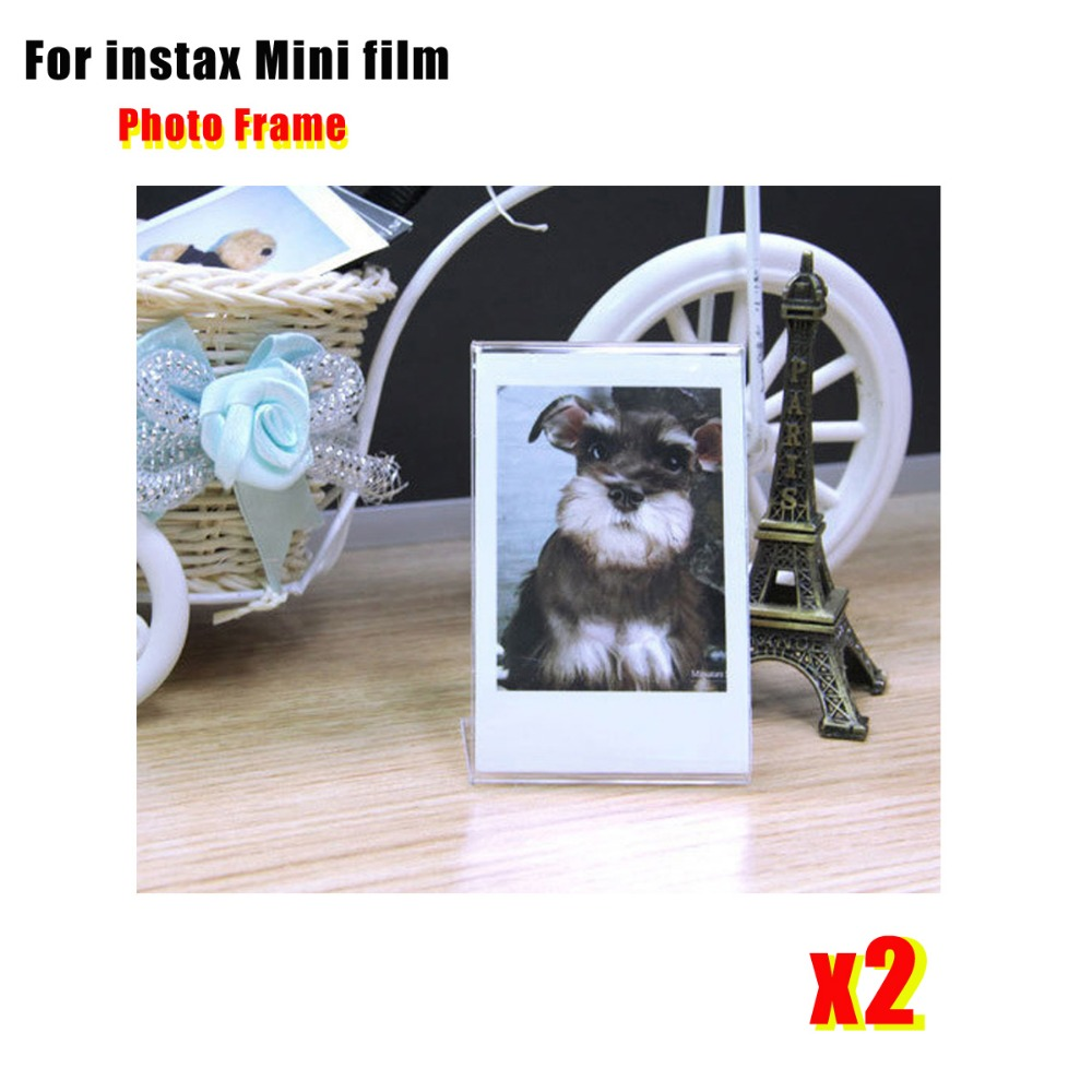 2 Pieces L  Shaped Acrylic Transparent Stand Simple Photo Frame for Fujifilm Instax Mini Mini LiPlay / 7s/ 8/ 9 /70/90 Mini Film-in Camera/Video Bags from Consumer Electronics