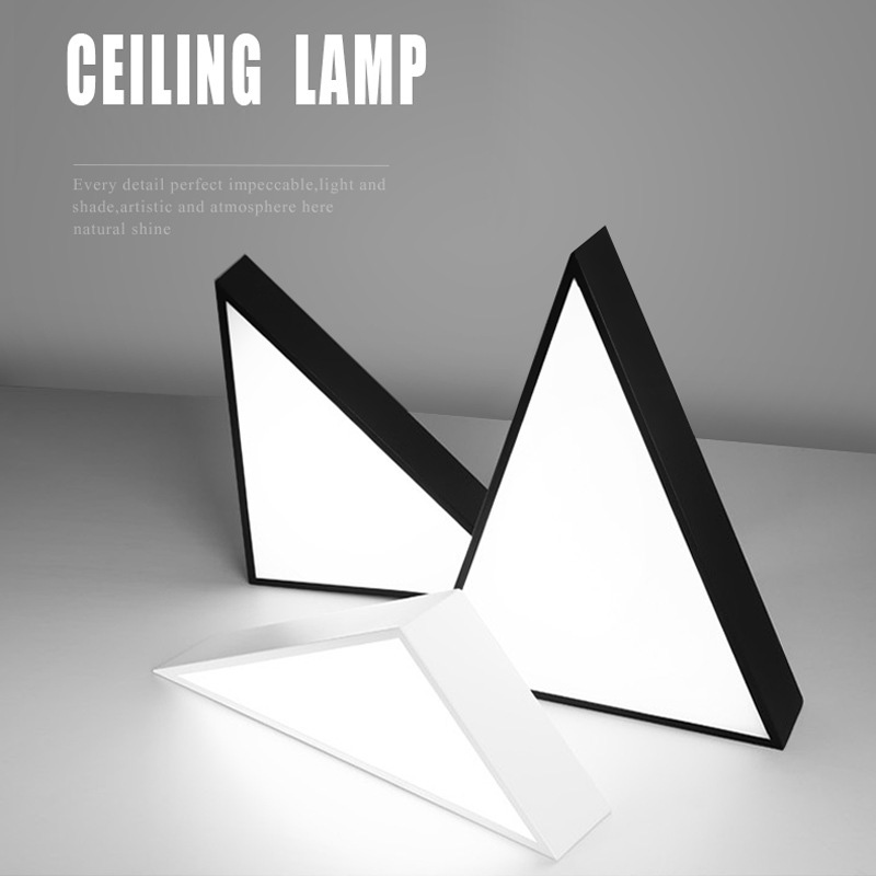 Friendly Wongshi Modern 2.4g Ir Remote Control Black White Iron Led Ceiling Lamp Surface Mounted Panel Simple Ceiling Light Always Buy Good Ceiling Lights & Fans