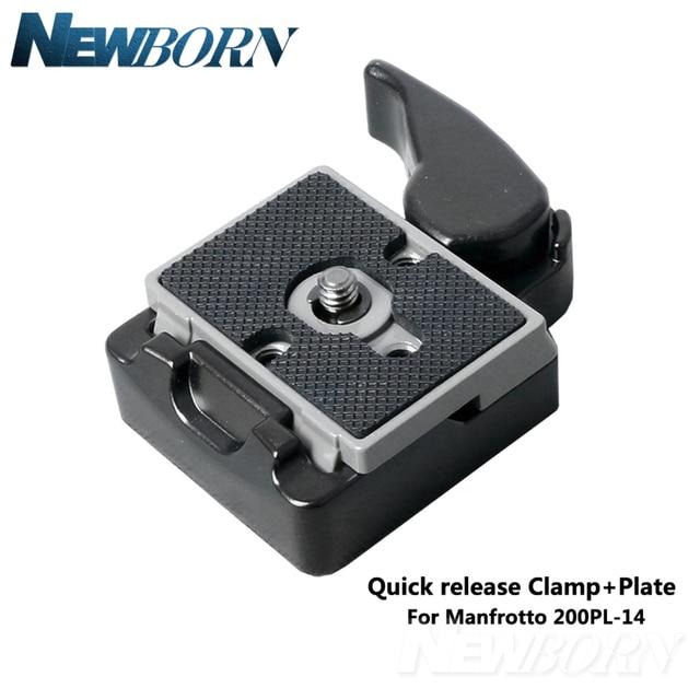 Phụ Kiện máy ảnh 323 Phát Hành Nhanh Chóng Kẹp Adapter Phát Hành Tấm Tương Thích đối với máy ảnh tripod với Manfrotto 200PL 14 Tấm