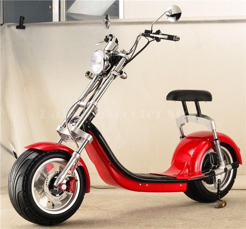 Daibot Scooter électrique moto deux roues auto équilibrage Scooters 1000W grand pneu Harley électrique Citycoco Scooter
