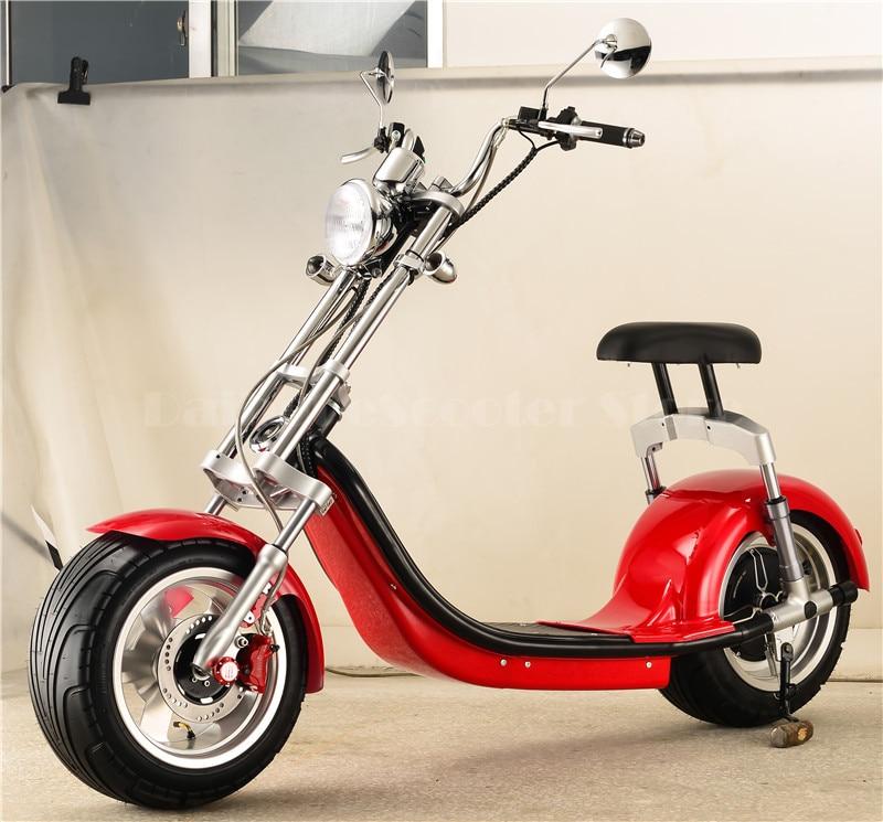 Daibot Scooter électrique moto deux roues auto équilibrage Scooters 1000 W grand pneu Harley électrique Citycoco Scooter