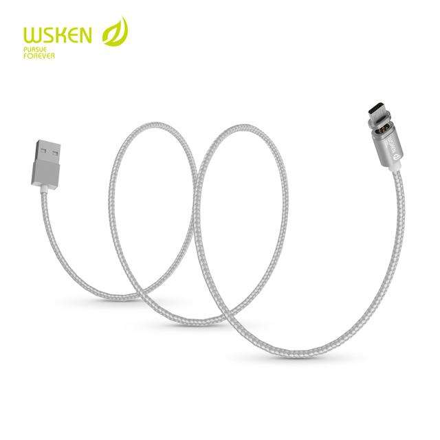 Wsken criatividade magnetic smartphone cabo usb para iphone e android., para android, conector para relâmpago, e cabo geral.