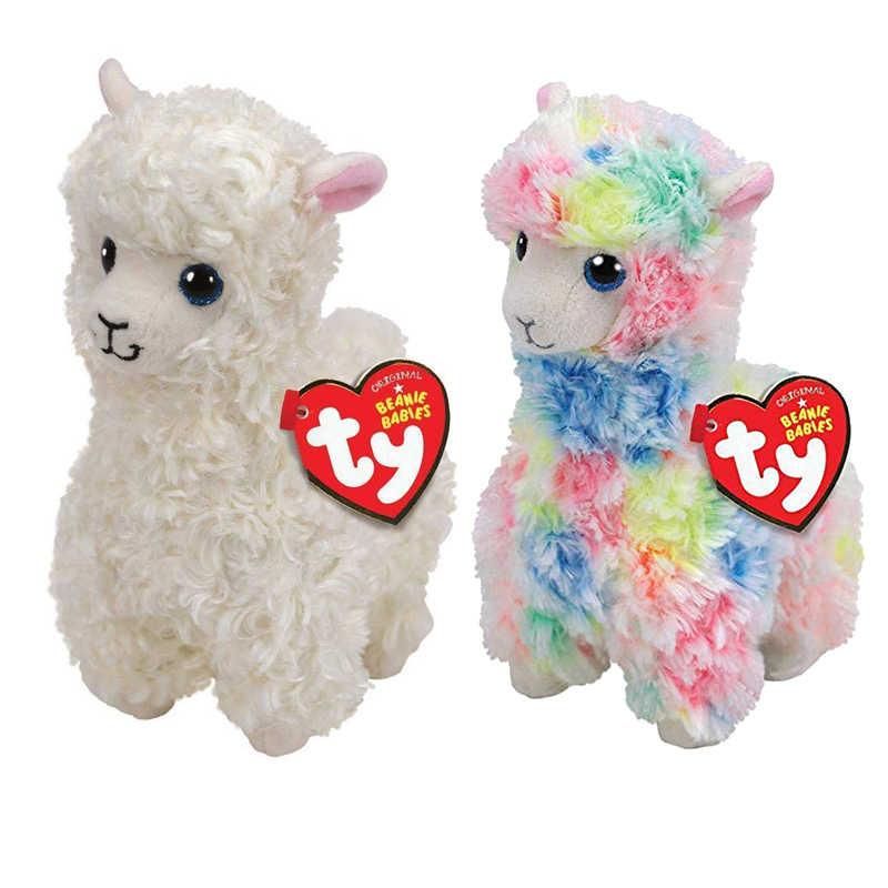 Ty Beanie Boos 15CM Lola multicolored llama Unicorn Cat Penguin Plush Baby Plush  Stuffed Doll Toy 5599ef006e30