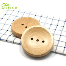 Japanese Style Light Round Wooden Soap Dish Tray Wood Soap Holder For Shower Bathroom Accessories L10-W10-H2CM