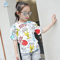 kids clothes T-shirts for girls Children Abstract cartoon T-shirt Children girls fashion cotton T-shirt Mermaid bobo choses 20#