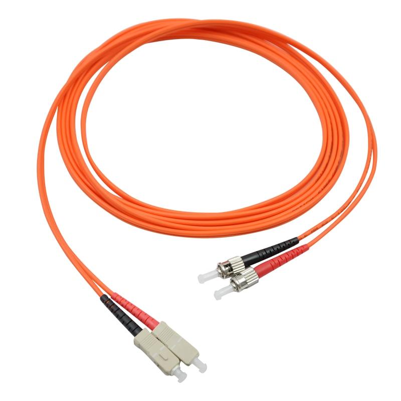 15 Meters SC-ST Fiber Optic Cable MultiMode Duplex Patch Cord OM1 62.5/125 15M