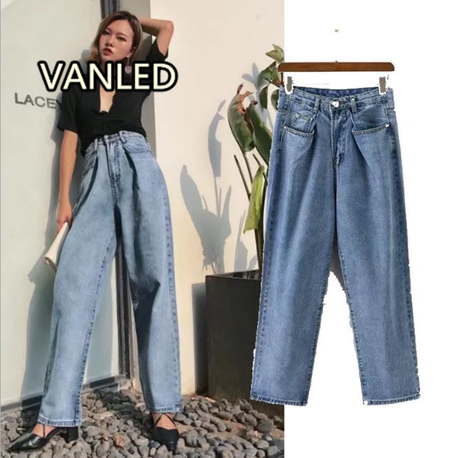 New 2017 Fashion High Waist Wash Baggy Jeanss