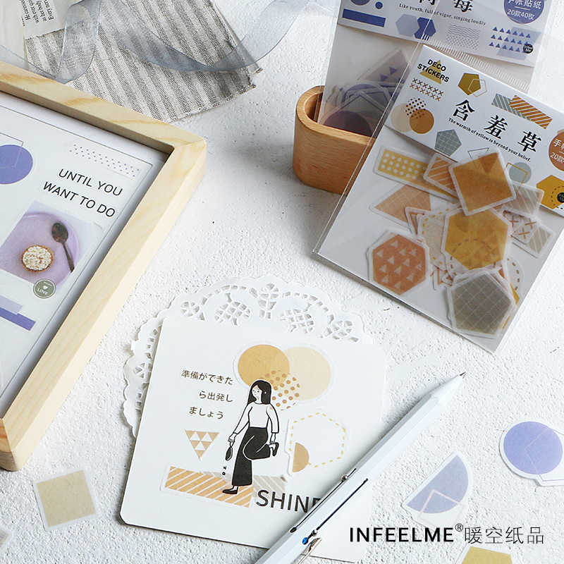1 компл./1 лот Kawaii канцелярские наклейки свежая Геометрия дневник планировщик декоративные мобильные наклейки Скрапбукинг DIY Craft наклейки