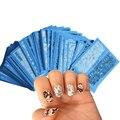 48 листов Новые Цветы Кружева Nail Art Water Transfer Наклейки Наклейки Для Ногтей Советы Черный/Белый Маникюр Декор Инструменты STZV001-048